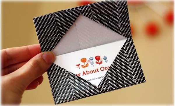 Необычный конвертик из бумаги